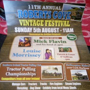Poster for 2018 Roberts Cove Vintage Festival